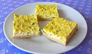 Dill and cottage cheese squares