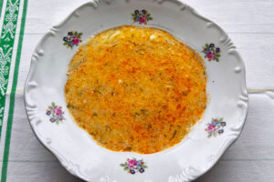 White squash soup with dill