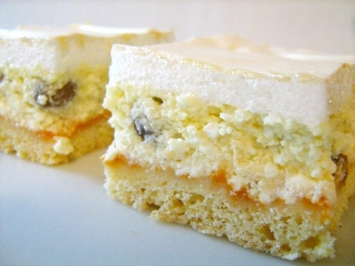 Hungarian curd cheese squares