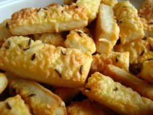 Salty cheese sticks