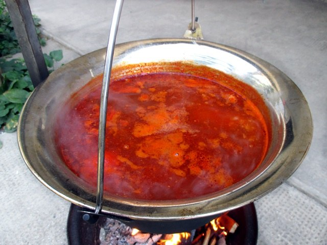 Fisherman's soup in bogrács
