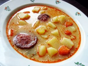 Hungarian potato soup