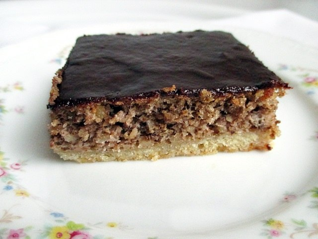 Chocolate walnut slices