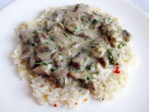 Mushroom pork ragout