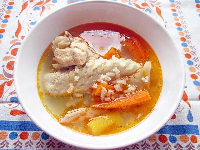 Garlic chicken soup