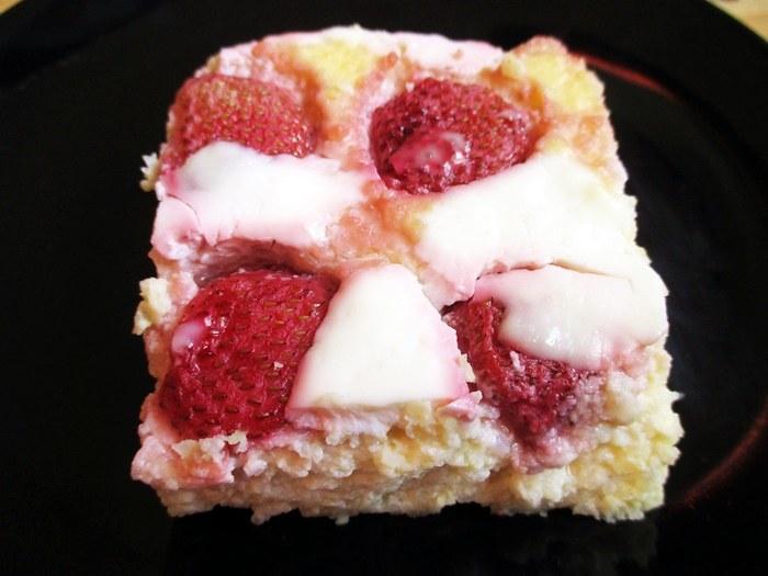 Strawberry millet squares / Epres kölesmálé