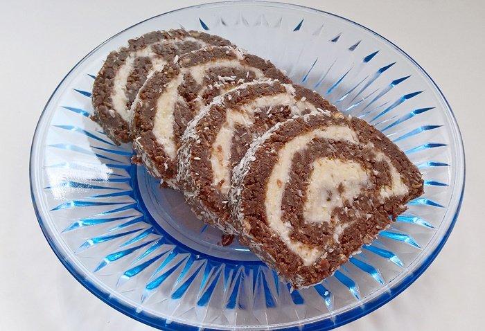Coconut cookie roll / Kókuszos keksztekercs