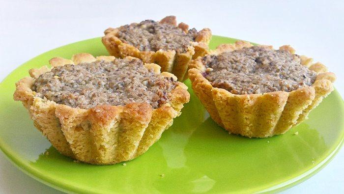 Diós kosárka - Walnut filled shortcrust pastry cupcakes