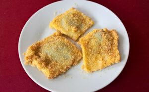Lekváros derelye from potato dough
