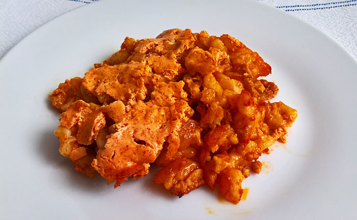 Húsos galuska - Meaty dumplings